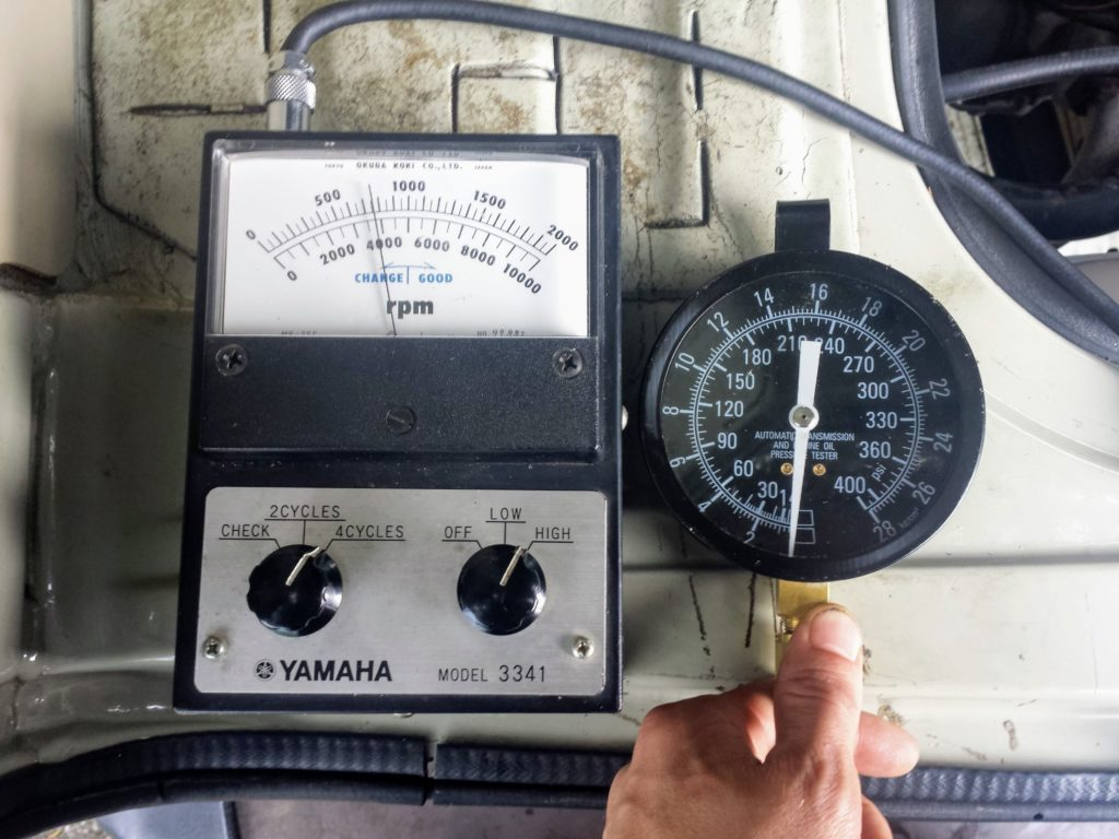 VW Transporter T3 oil pressure check